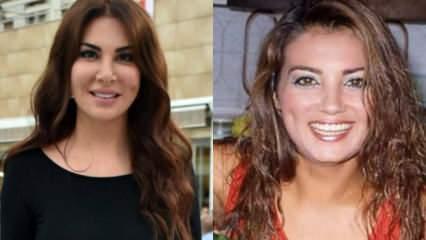 Ebru Yaşar ve Yeşilçam'ın yıldız oyuncusu Bahar Öztan'ın benzerliği sosyal medyayı salladı!