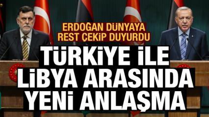 Erdoğan 'Sizi asla darbecilere teslim etmeyiz' deyip dünyaya rest çekti! Libya ile yeni anlaşma