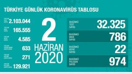 Son dakika haberi: 2 Haziran koronavirüs tablosu! Vaka, ölü sayısı ve son durum açıklandı
