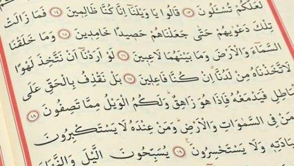 Vakıa Suresi Arapça okunuşu | Vakıa Suresi meali ve faziletleri...
