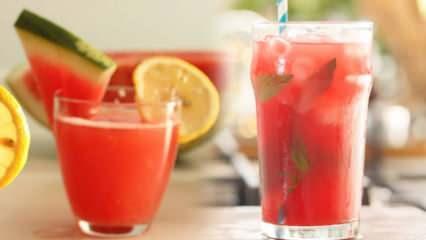En kolay karpuzlu limonata nasıl yapılır? Enfes karpuzlu limonata yapmanın püf noktası