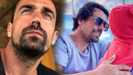 Oyuncu İbrahim Çelikkol oğlu Ali'yle poz verdi: Minik huzur...