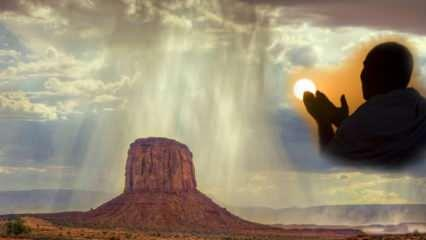 Peygamberimizin yağmur duası! (İstiska) Yağmur duası nedir? Yağmur yağarken okunacak dua