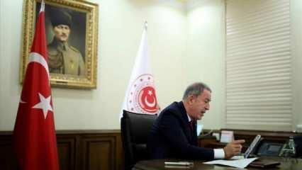 Bakan Akar, NATO Genel Sekreteri ile telefonda görüştü