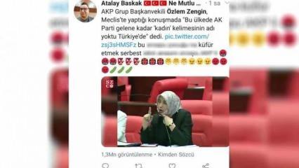 Ak Parti Grup Başkanvekili Özlem Zengin'e küfür eden isim gözaltına alındı