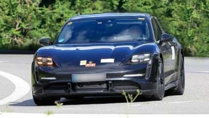 2021 Porsche Taycan Cross Turismo'nun görselleri sızdırıldı