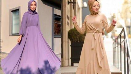 Yazlık tesettür elbiseler nasıl kombinlenir? 2020 elbise modelleri