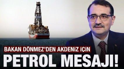 Akdeniz'de petrol bulabilecek miyiz? Enerji Bakanı Fatih Dönmez'den özel açıklamalar