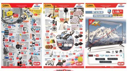 BİM Aktüel Kataloğu | 10 Temmuz Elektronik, oto aksesuar, drone, tekstil ve gıda ürünlerinde..