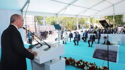 Cumhurbaşkanı Erdoğan'dan cami açılışında Ayasofya mesajı