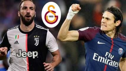 Galatasaray son dakika transfer: Aslan'dan Cavani ve Higuain hamlesi