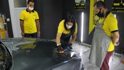 'Kadınsın araç boyama işinden anlamazsın' dediler: Şimdi müdavimi oldular!