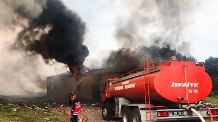 Sakarya'daki havai fişek fabrikasından korkutan fotoğraflar