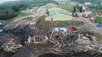 Sakarya'daki patlamanın şiddeti gün yüzüne çıktı!