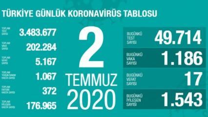 Son dakika haberi: 2 Temmuz koronavirüs tablosu! Vaka, ölü sayısı ve son durum açıklandı