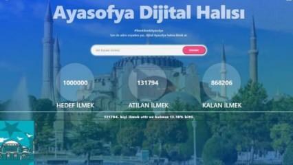 TÜGVA'dan Ayasofya için 1 milyon imza kampanyası: Dijital halı dokunuyor