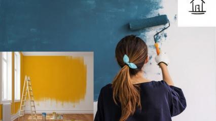 1+1 ev nasıl boyanır? Evi boyarken nereden başlanmalı?
