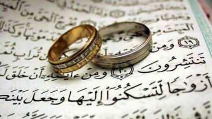 Arapça ve Türkçe Nikah duası okunuşu | Dini nikah kıyılırken okunan duanın anlamı...