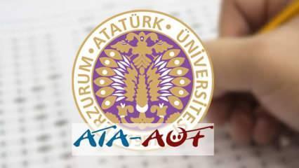 ATA AÖF bütünleme sınavı giriş ekranı: ATA AÖF bütünleme sınavı başladı!