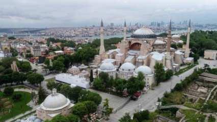 Kudüs'ten Türkiye'ye Ayasofya tebriği
