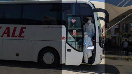 Otobüste koronavirüs paniği! Soluğu hastanede aldılar