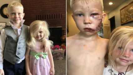 Altı yaşındaki çocuk kız kardeşini böyle kurtardı!