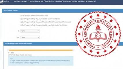 LGS tercih işlemi E-okul üzerinden nasıl yapılacak? LGS tercih ekranı 2020