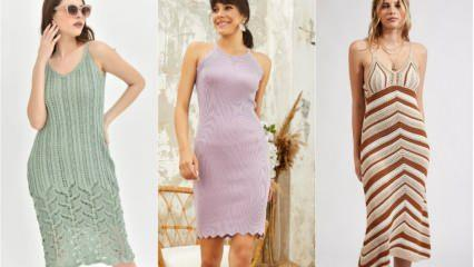 Yazlık triko elbise modelleri 2020! Triko elbise nasıl kombinlenir?