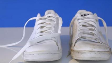 Beyaz ayakkabı nasıl temizlenir? Beyaz ayakkabıyı ilk günkü gibi bembeyaz yapma