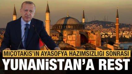 Son dakika: Yunanistan'ın Ayasofya tepkisine Erdoğan'dan tarihi rest!