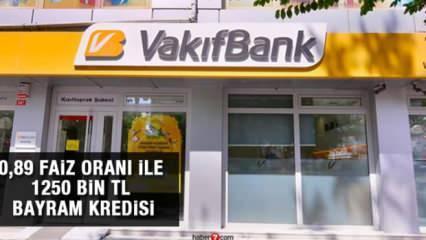 VakıfBank'tan 3 ay ödemesiz 125 bin TL Bayram kredisi! İşte kredi başvuru ekranı