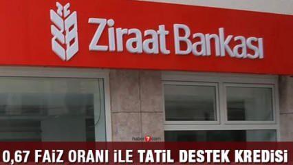 Ziraat Bankası 0,67 oranlar ile Tatil Kredisi! İlk taksiti acenta ikinci taksiti banka ödeyecek
