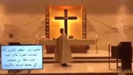 Papazın zor anları! Beyrut'ta meydana gelen patlamaya ayinde yakalandı