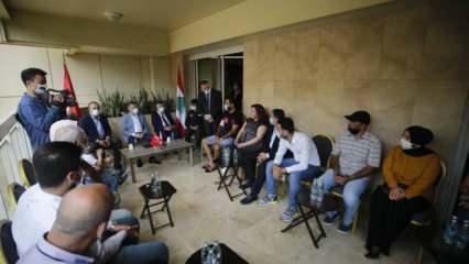 Oktay ve Çavuşoğlu, Lübnan'daki Türk ailelerle buluştu