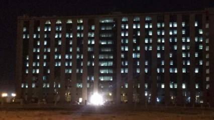 Pandemi hastanesinin gece görüntüsü korkuttu!