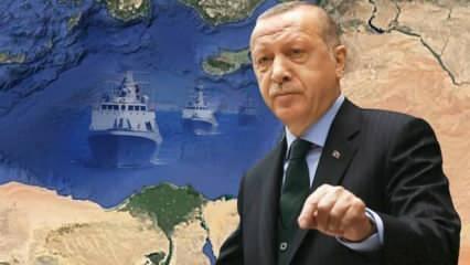 Erdoğan son noktayı koydu, Atina panikledi: 'Türk savaş gemilerinde bir hareketlenme var'