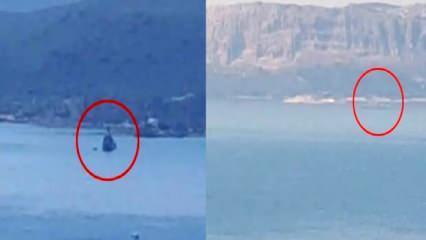 Akdeniz'de sıcak dakikalar! Görüntüler az önce kayıt edildi