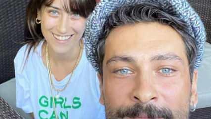 Benden Ne Olur'un başrolü Hazal Kaya'dan oğlu Fikret Ali ile fotoğraf