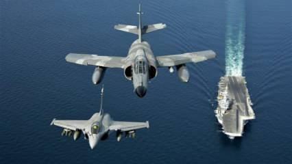 Fransa ve İsrail Doğu Akdeniz'de uçak kaldırdı