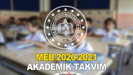Okullar ne zaman açılacak? | MEB Akademik Takvim