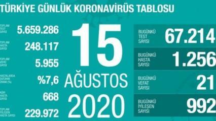 Son dakika haberi: 15 Ağustos koronavirüs tablosu! Vaka, ölü sayısı ve son durum açıklandı