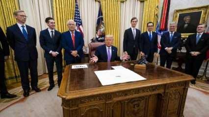 Trump 'tarihi bir anlaşma' deyip duyurdu!