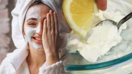 Yoğurt ve limon maskesinin cilde faydaları neler? Yoğurt ve limon maskesinin evde yapımı