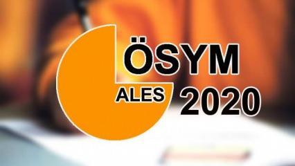 ALES sonuçları açıklandı mı? 2020 ÖSYM sınav takvimi: ALES/1 sonuç tarihi!