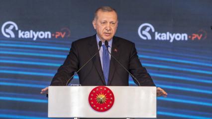 Başkan Erdoğan'dan müjde açıklamasından sonra anlamlı paylaşım