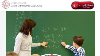 Ücretli öğretmenlik başvurusu nasıl yapılır? 2020 ücretli öğretmen maaşları ne kadar?