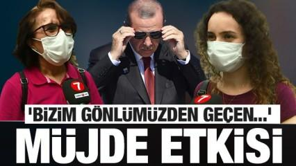 Erdoğan'ın açıklayacağı müjde hakkında vatandaş ne diyor?