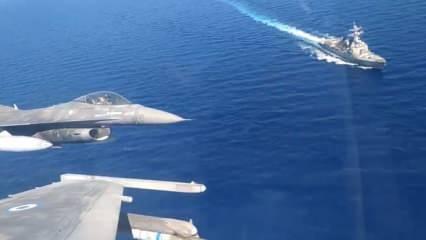 Yunanistan, Doğu Akdeniz'de ABD ve BAE ile tatbikat düzenledi
