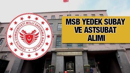 2020 Yedek Subay Astsubay Alımı Yapılacak! MSB Kasım sevk tarihi ne zaman?