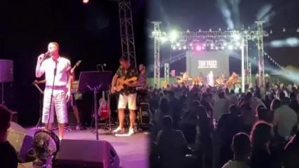 Genç şarkıcı Tan Taşçı konserinde sosyal mesafe kuralları çiğnendi!